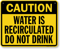 California Do Not Drink Caution Sign