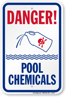 Danger, Pool Chemicals Sign