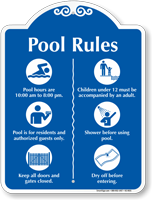 Pool Rules Symbol Signature Sign