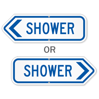 Shower Swimming Pool Sign