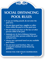 Social Distancing Pool Rules, Thank Your For Your Cooperation Signature Sign