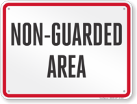 Wisconsin Non-Guarded Area Pool Sign