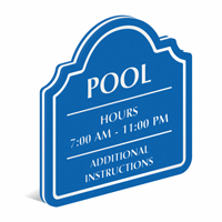 Add Custom Headline And Pool Hours PermaCarve Sign