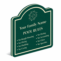 Add Custom Pool Rules And Family Name PermaCarve Sign