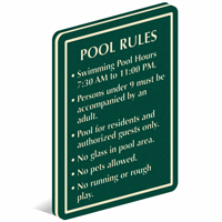 Add Custom Pool Rules PermaCarve Sign