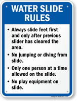 Water Slide Rules Sign for Arkansas