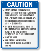 California Caution Spa Rules Sign