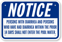 California Pool Sign