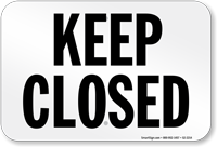 California Keep Closed Pool Sign