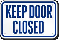 Keep Door Closed Pool Sign
