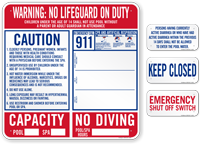 California Pool Safety Sign Kit