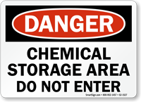 Maryland Chemical Storage Area Pool Sign