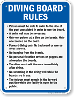 Georgia Diving Board Rules Sign