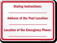 North Carolina Emergency Phone Sign