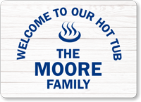 Family Name Personalized Beach House Sign