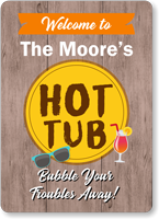 Family Name Personalized Hot Tub Sign