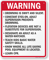 Florida Warning Pool Sign