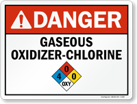 Danger Gaseous Oxidixer - Chlorine