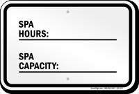 Georgia Spa Hours And Capacity Sign