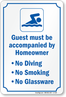Community Pool Sign