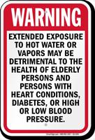 Nevada Hot Water Exposure Pool Sign