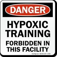 Hypoxic Training Forbidden Danger Pool Sign