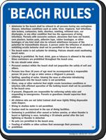 Illinois Beach Rules Sign