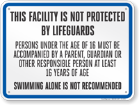 Illinois Pool Not Protected By Lifeguard Sign