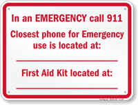 In Emergency Call 911 New York Sign