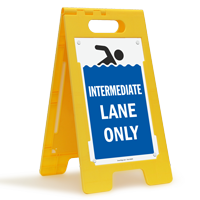 Intermediate Lane Only Floor Sign