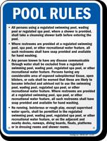 Kansas Pool Rules Sign