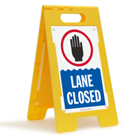 Lane Closed Floor Sign