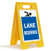 Lane Reserved Floor Sign