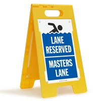 Lane Reserved Masters Lane Floor Sign