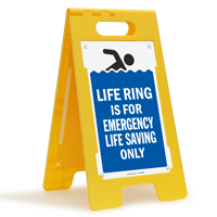 Life Ring Is For Emergency Life Saving Only Floor Sign