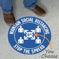 Maintain Social Distancing SlipSafe Floor Sign