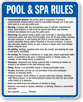 Minnesota Pool And Spa Rules Sign
