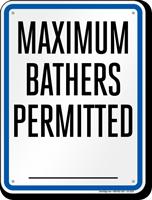 Missouri Bather Load Capacity Pool Sign