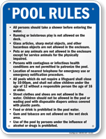 Missouri Pool Rules Sign