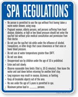 Nebraska Spa Regulations Sign
