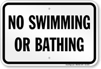 New York No Swimming Or Bathing Sign