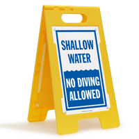 Shallow Water No Diving Allowed Caution Floor Sign