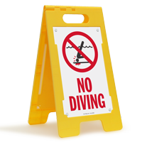 No Diving Floor Sign