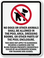 Alabama No Dogs Allowed In Pool Area Sign