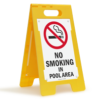 No Smoking In Pool Area Floor Sign