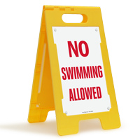 No Swimming Allowed Floor Sign