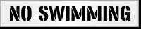 No Swimming Stencil