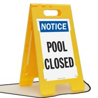 Notice Pool Closed Floor Sign