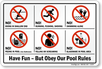 Have Fun But Obey Our Pool Rules Sign