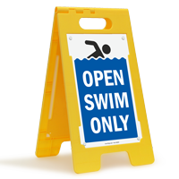 Open Swim Only Floor Sign